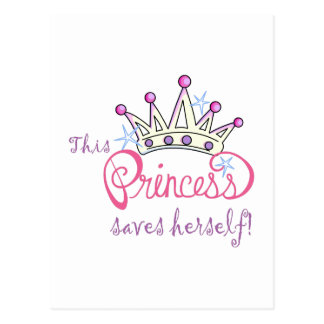 This Princess Saves Herself! Postcard