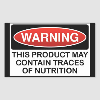 THIS PRODUCT MAY CONTAIN TRACES OF NUTRITION RECTANGULAR STICKER