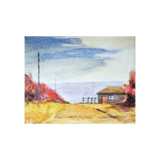 This Road Leads Me There - wrapped canvas