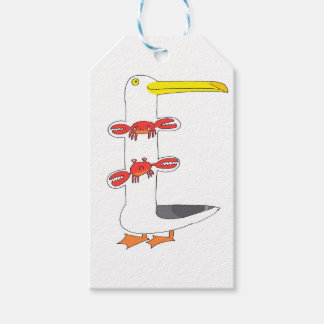 This seagull  . . . eats crabs gift tags