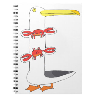 This seagull  . . . eats crabs notebook