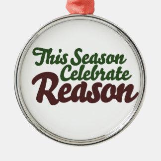 This Season Celebrate Reason Christmas Ornament