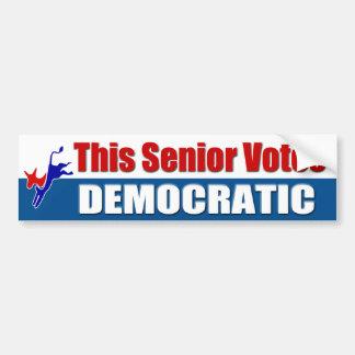 This Senior Votes Democratic Bumper Sticker