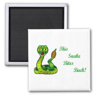 This snake Bites Back Funny Magnet