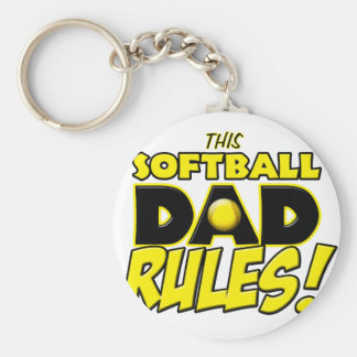 This Softball Dad Rules copy.png Keychains