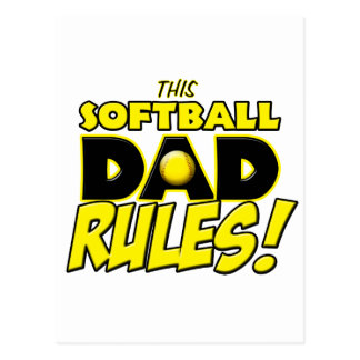 This Softball Dad Rules copy.png Postcard