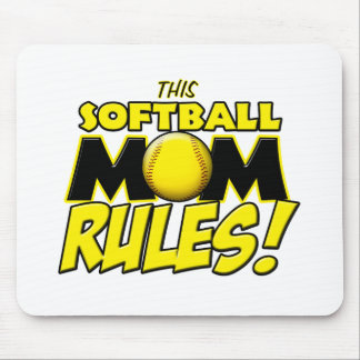 This Softball Mom Rules copy.png Mouse Pad