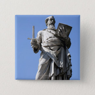 This statue of Saint Paul is on the right site 15 Cm Square Badge