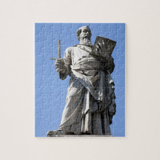 This statue of Saint Paul is on the right site Jigsaw Puzzle