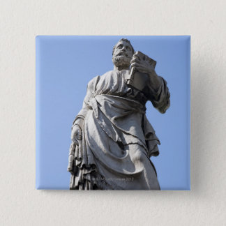 This statue of Saint Peter is on the left side 15 Cm Square Badge
