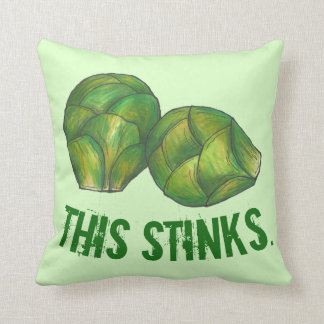 This Stinks Green Brussels Sprouts Vegetable Food Cushion