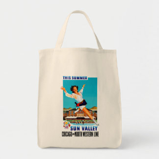 This Summer ~ Sun Valley Grocery Tote Bag