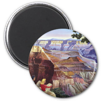 This Summer Visit Grand Canyon 6 Cm Round Magnet