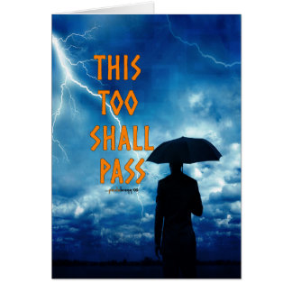 This Too Shall Pass (12 step recovery program) Note Card