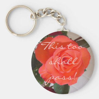This too shall pass! basic round button key ring
