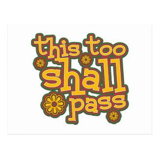 This Too Shall Pass Postcard