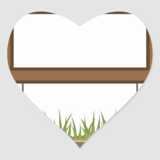 This town sign Vector Blank Heart Sticker