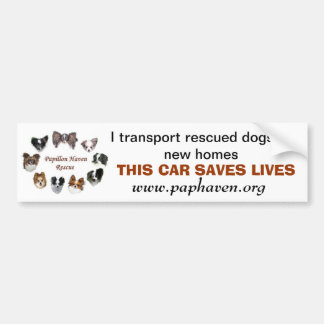 THIS VEHICLE SAVES LIVES BUMPER STICKER