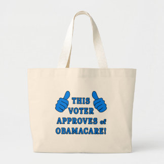 THIS VOTER Approves of Obamacare Canvas Bag