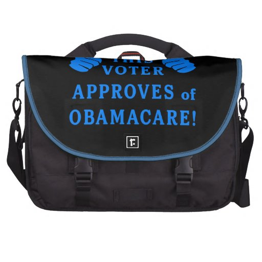 THIS VOTER Approves of Obamacare Laptop Bag