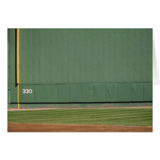 This wall is known as 'the Green Monster.'Foul Greeting Card