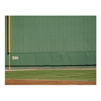 This wall is known as 'the Green Monster.'Foul Postcard
