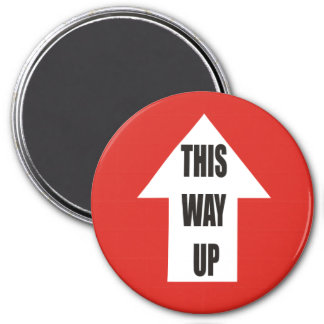 This Way Up 7.5 Cm Round Magnet