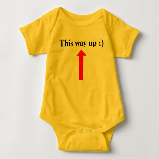 This way up :) baby bodysuit