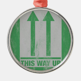 This way up sign christmas ornament