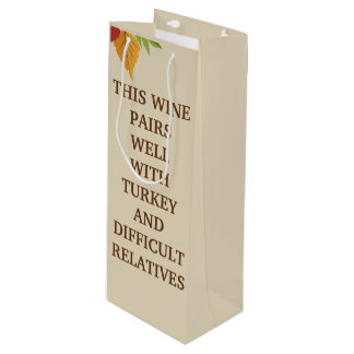 This Wine Pairs Well Wine Gift Bag