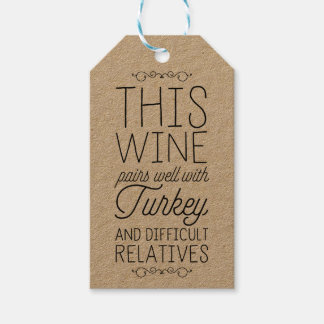 This Wine Pairs Well With... Gift Tags