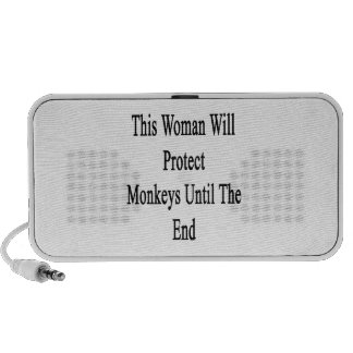 This Woman Will Protect Monkeys Until The End Mini Speakers