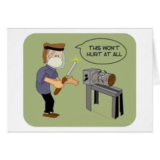 This Won t Hurt Funny Woodturning Cartoon Cards