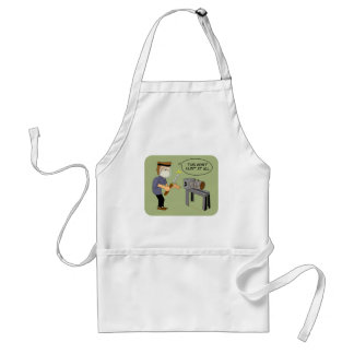 This Won't Hurt Funny Woodturning Cartoon Standard Apron
