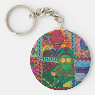 This World And What Is Between Basic Round Button Key Ring