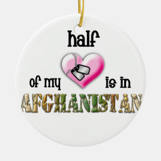 This year Half of my heart is in Afghanistan Christmas Ornament