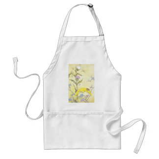 Thistle and Bee on Goldenrod Standard Apron
