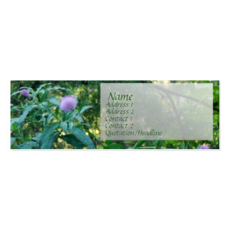thistle card, pack of skinny business cards