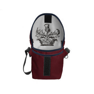 Thistle Crest mini messenger bag