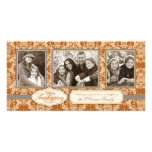Thistle Damask Thanksgiving Photo Card