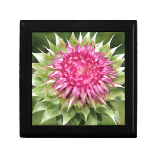 Thistle Flower Small Square Gift Box