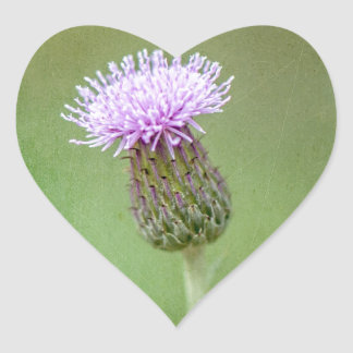 Thistle Heart Sticker