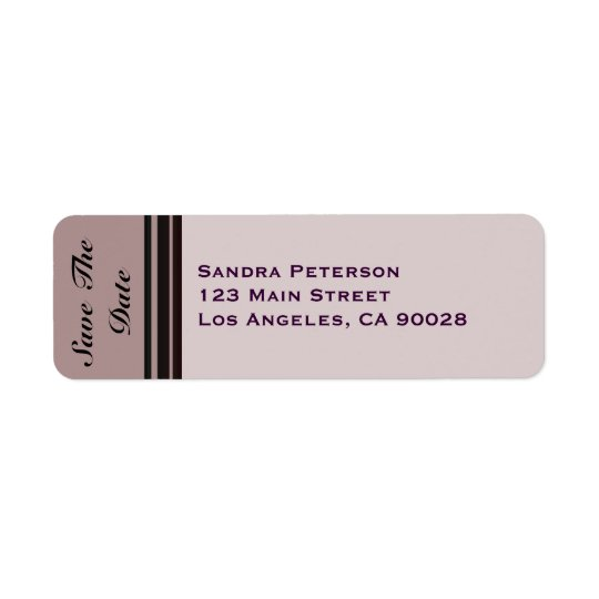thistle plum striped Save the Date