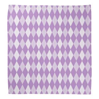 Thistle Purple Argyle Pale Violet Small Diamond Kerchief