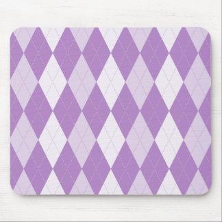 Thistle Purple Argyle Pale Violet Small Diamond Mouse Pad