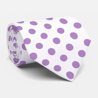 Thistle Purple Polka Dots Circles Tie