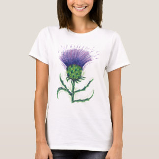 Thistle with a twist of tartan T-Shirt