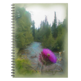 Thistle with Bee Notebook