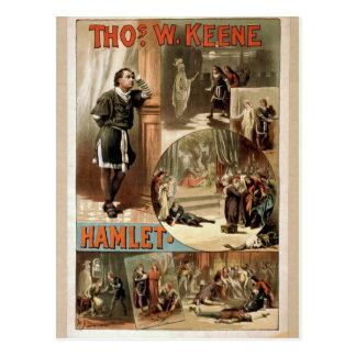 Tho' .W. Keene, Hamlet Retro Theater Postcard