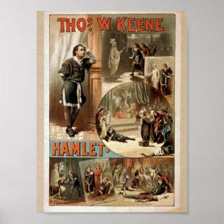 Tho' .W. Keene, Hamlet Retro Theater Poster